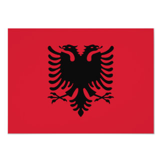 Albania Flag Invitation