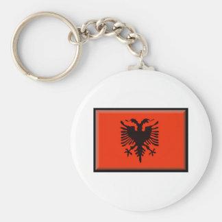 Albania Flag Key Ring