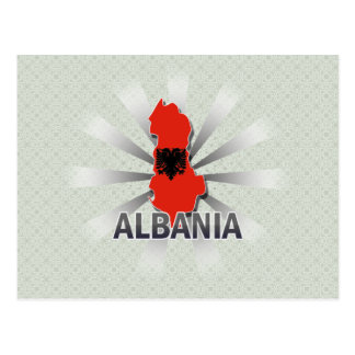 Albania Flag Map 2.0 Postcard