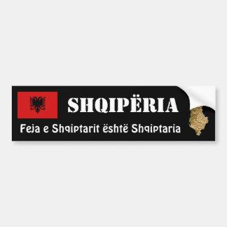 Albania Flag + Map Bumper Sticker