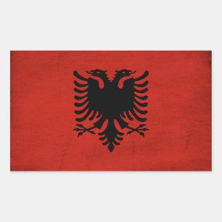 Albania Flag Rectangular Sticker