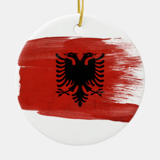 Albania Flag Round Ceramic Decoration