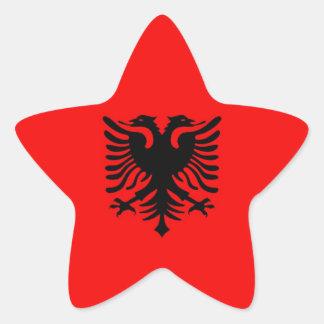Albania Flag Star Stickers