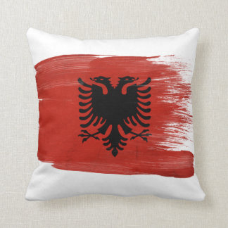 Albania Flag Throw Pillow