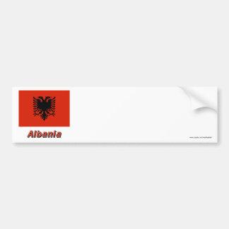 Albania Flag with Name Bumper Sticker