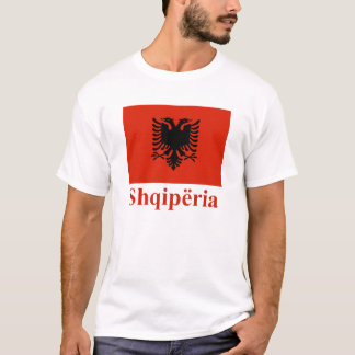 Albania Flag with Name in Albanian T-Shirt