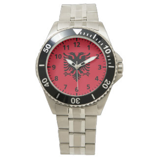 Albania Flag Wrist Watches