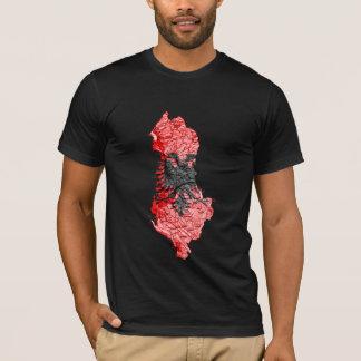 Albania Flagcolor Map T-Shirt