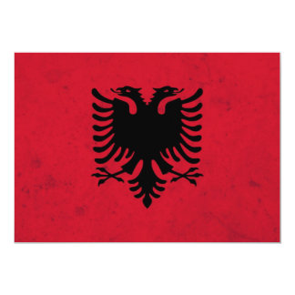 Albania Grunge Flag 13 Cm X 18 Cm Invitation Card