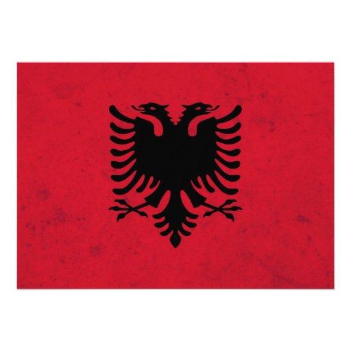 Albania Grunge Flag Invitation