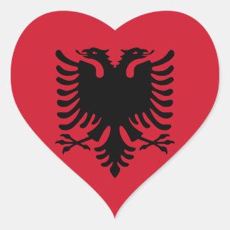 albania heart sticker