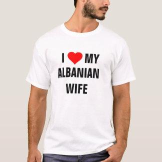 "ALBANIA: ""I Love my Albanian wife""  t-shirt"