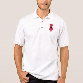 Albania map flag polo t-shirts