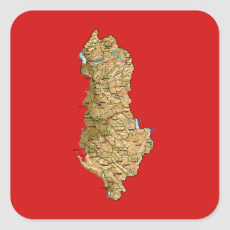 Albania Map Sticker