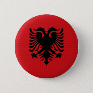 Albania National Flag 6 Cm Round Badge
