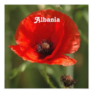Albania Poppy 13 Cm X 13 Cm Square Invitation Card
