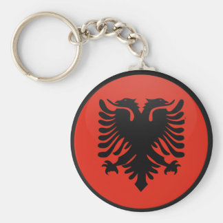 Albania quality Flag Circle Basic Round Button Key Ring