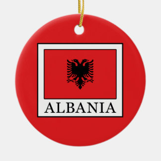 Albania Round Ceramic Decoration
