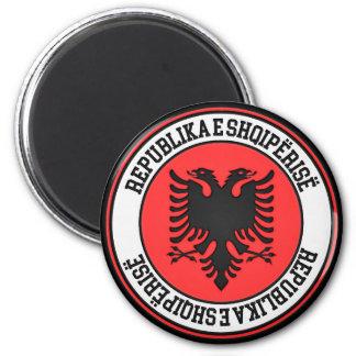 Albania Round Emblem Magnet