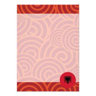 Albania round flag 13 cm x 18 cm invitation card