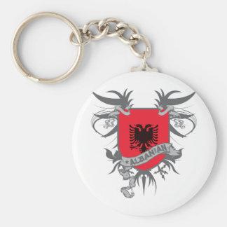 Albania Shield 3 Basic Round Button Key Ring