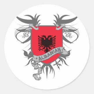 Albania Shield 3 Classic Round Sticker