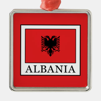 Albania Silver-Colored Square Decoration