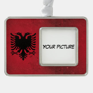 Albania Silver Plated Framed Ornament