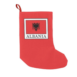 Albania Small Christmas Stocking
