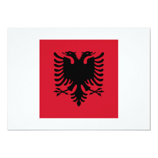 Albania Square Flag 13 Cm X 18 Cm Invitation Card