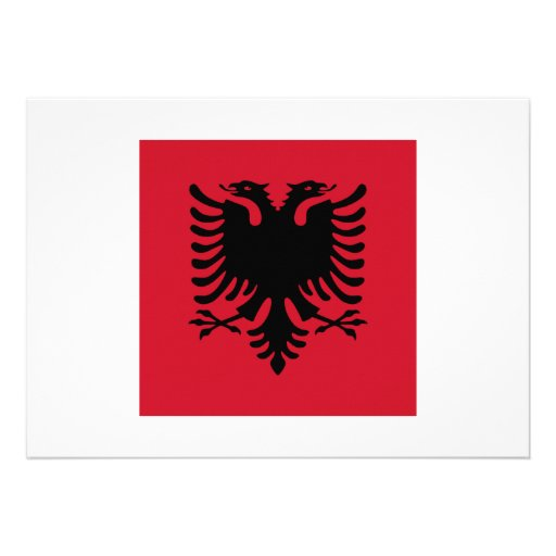 Albania Square Flag Personalized Invite