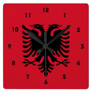 albania square wall clock
