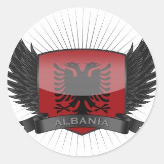 ALBANIA ROUND STICKER