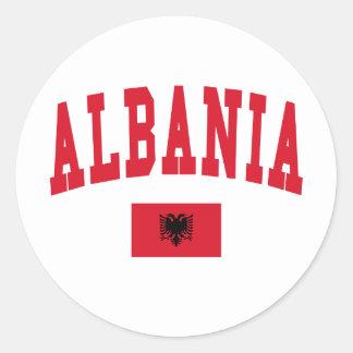 Albania Style Classic Round Sticker