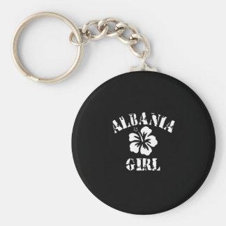 Albania Tattoo Style Basic Round Button Key Ring