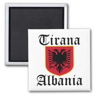 Albania Tirana Coat of Arms Square Magnet