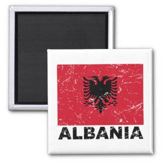 Albania Vintage Flag Magnet