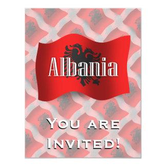 Albania Waving Flag 11 Cm X 14 Cm Invitation Card