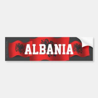 Albania Waving Flag Bumper Sticker