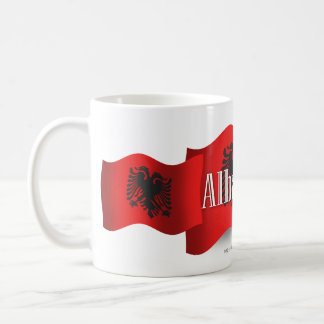Albania Waving Flag Coffee Mug