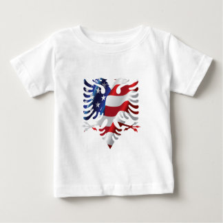 Albanian American Eagle Baby T-Shirt