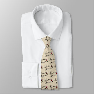 Albanian American Entwined Hearts Tie