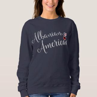 Albanian American Entwinted Hearts Sweatshirt