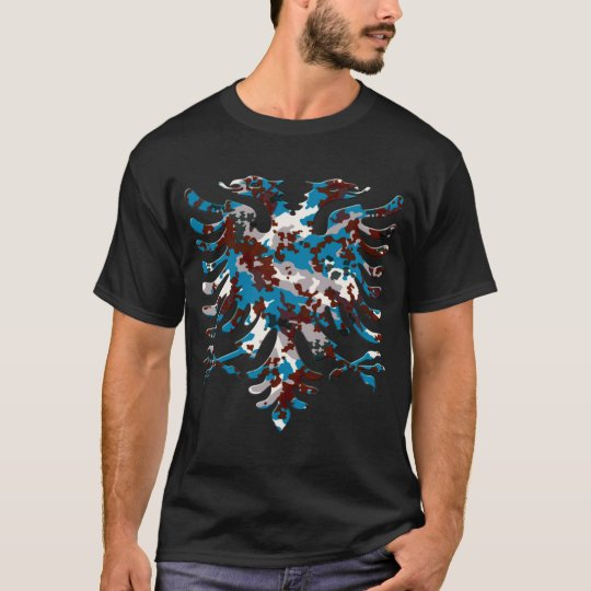 Albanian Blue New Urban Camo Eagle 3D T-Shirt