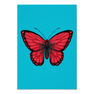 Albanian Butterfly Flag Personalized Invitations