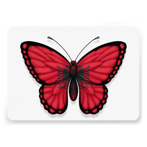 Albanian Butterfly Flag Invitation