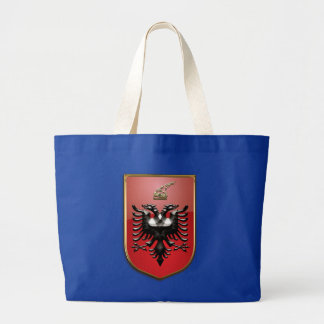 Albanian Coat of arms Large Tote Bag