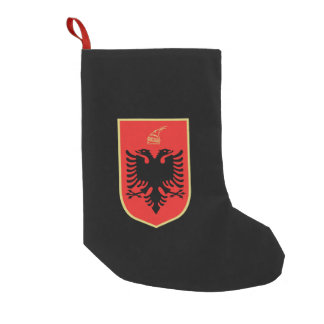 Albanian coat of arms small christmas stocking
