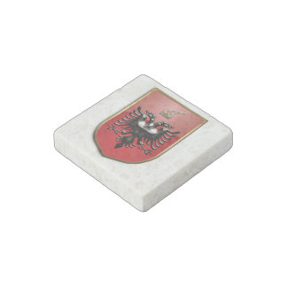 Albanian Coat of arms Stone Magnet