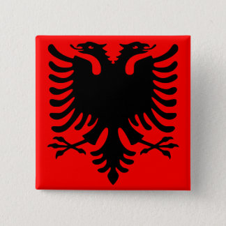 Albanian Eagle 15 Cm Square Badge